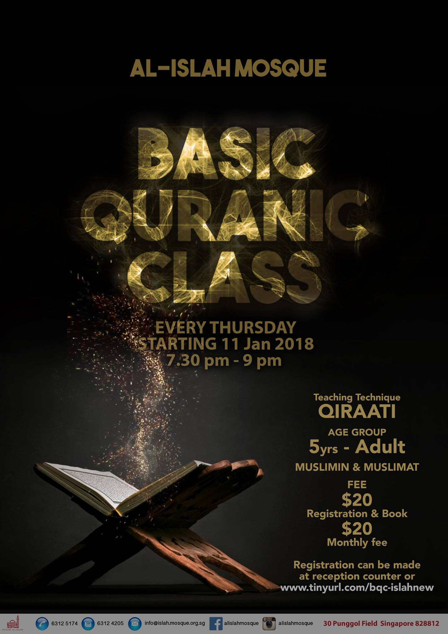 Basic Quranic Class (Registration Closed)